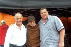 Steve Schirripa e Tony Sirico e woody allen sul set