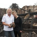 Kate Winslet e Richard Branson