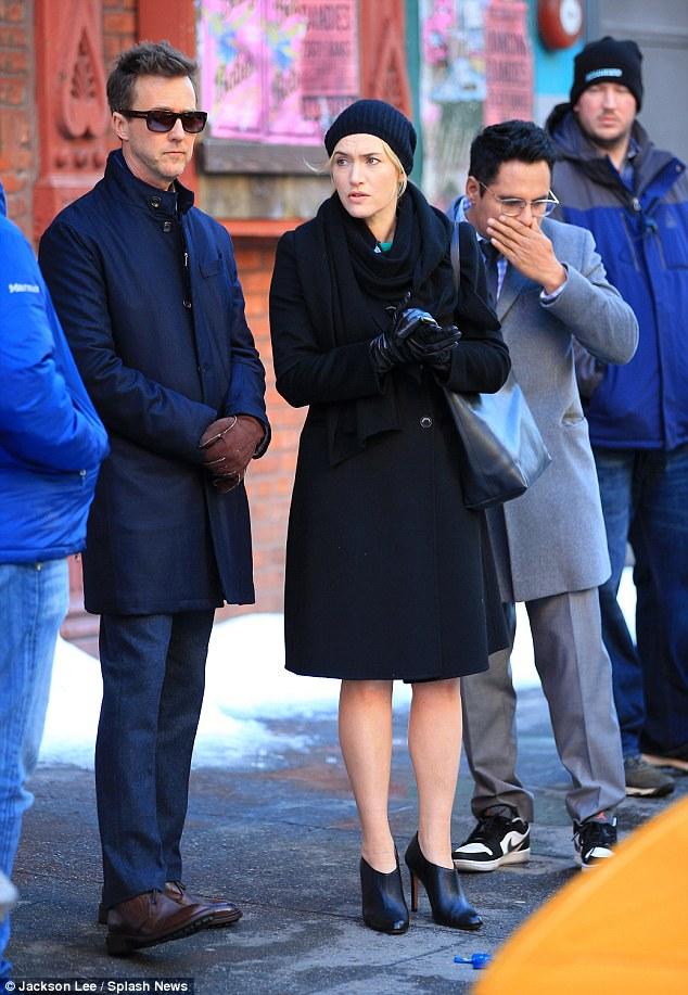 Kate Winslet e Edward Norton sul set di Collateral Beauty!