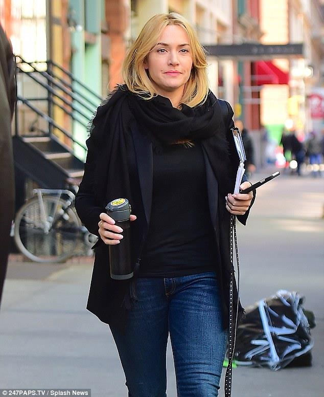 Kate Winslet sul set di Collateral Beauty: nuove foto