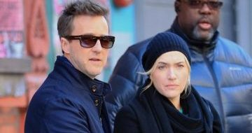 Kate Winslet e Edward Norton sul set di Collateral Beauty!