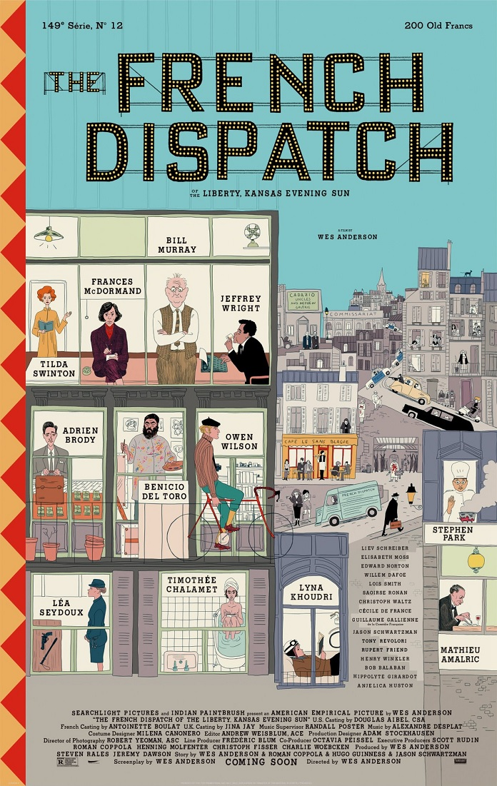 Trailer di French Dispatch, senza Kate Winslet